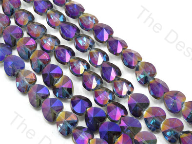 Heart Purple Transparent Rainbow Designer beads