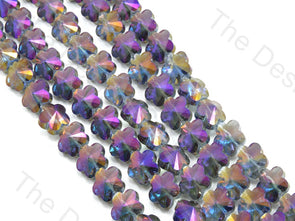 Flower Purple Transparent Rainbow Designer beads