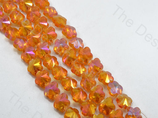 Flower Orange Transparent Rainbow Designer beads