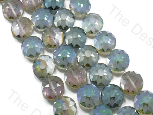 Flower Light Purple Rainbow Designer Beads