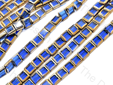 Blue Golden Border Designer Beads