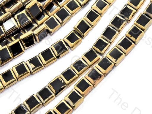 Black Golden Border Designer Beads