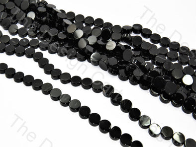 Round Flat Black Small Designer Beads