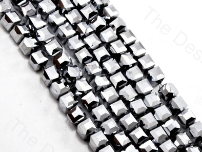 Silver Metallic Cubic Crystal Beads