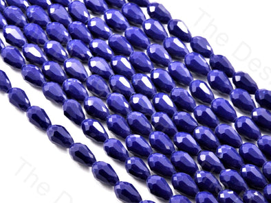 Blue Opaque Drop / Briolette Crystal Beads