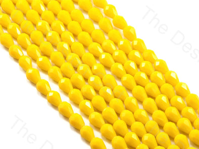 Yellow Opaque Drop / Briolette Crystal Beads