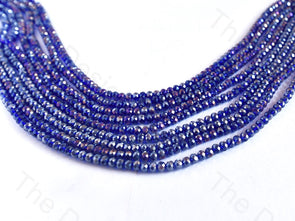 Blue Rainbow Rondelle / Tyre Faceted Crystal Beads