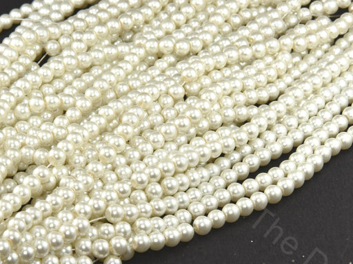 Cream Spherical Glass Pearl