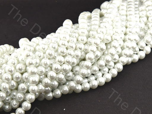 Opaque White Spherical Glass Pearl