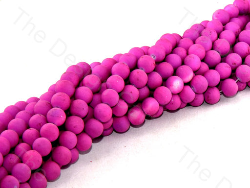 Magenta Matte Finish Spherical Glass Pearl