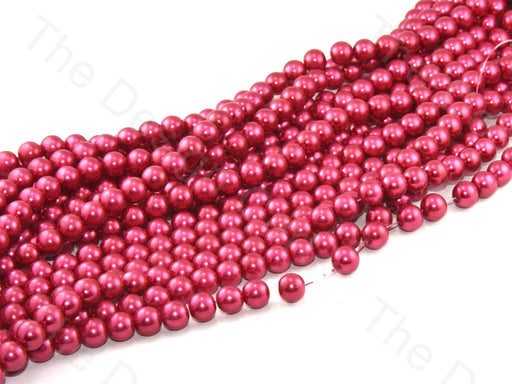 Red Shine Spherical Glass Pearl