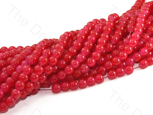 Red Spherical Glass Pearl