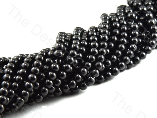 Black Spherical Glass Pearl