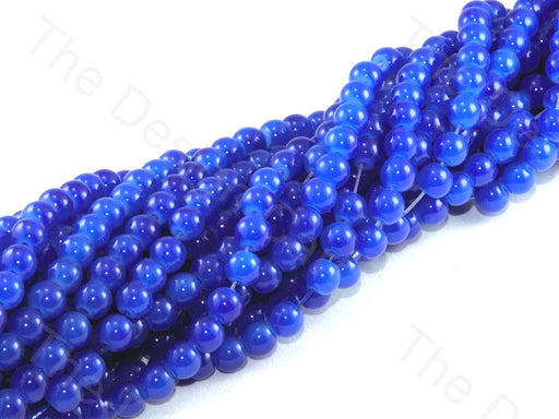 Blue Spherical Glass Pearl