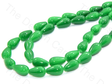 Green Drop Glass Pearls