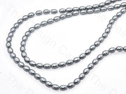 Gray Oval Shaped Glass Pearl | The Design Cart (531403571234)