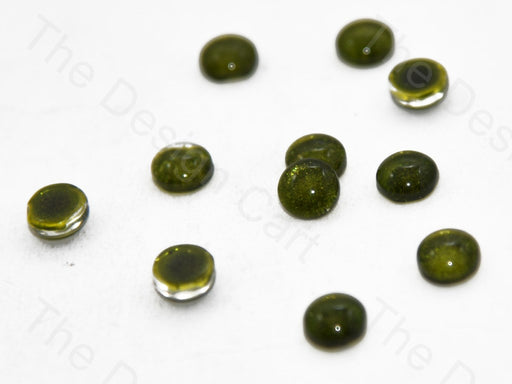 Olive Green Circular Small Glass Stones