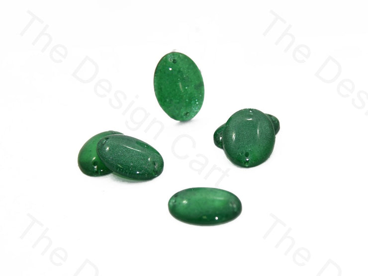 Green Oval Glass Stones (401482252322)