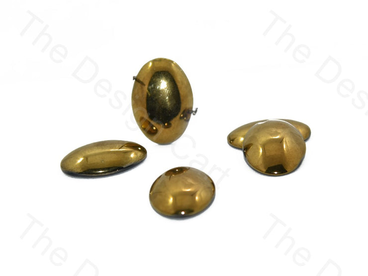 Golden Oval Glass Stones (401481990178)