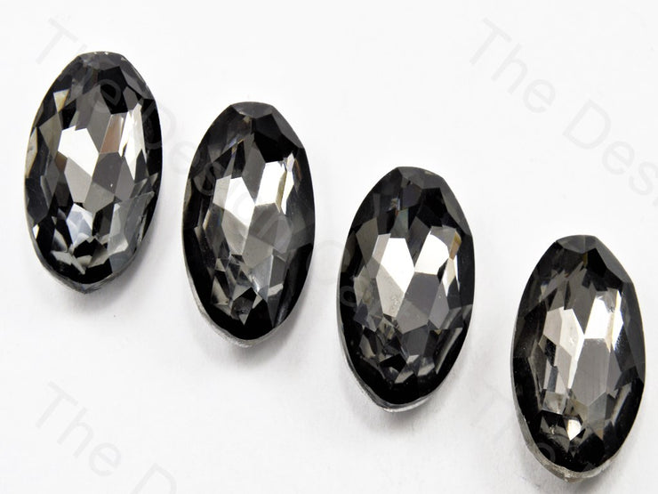Gray Oval Shaped Glass Stones (11324158227)