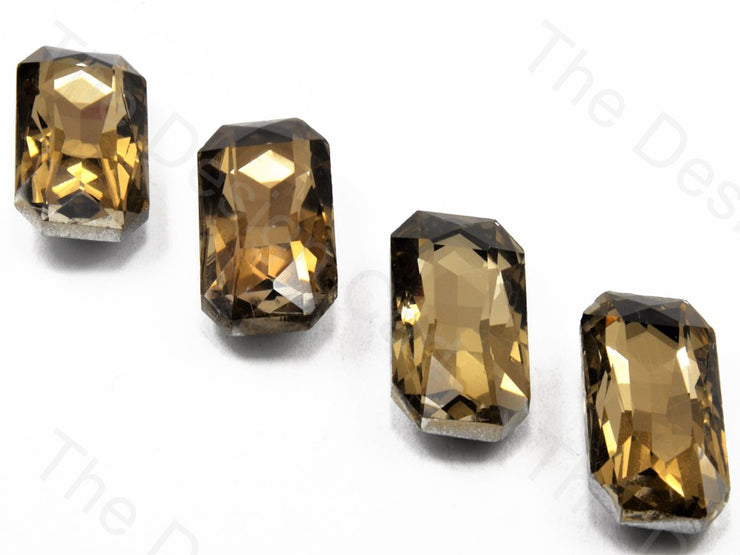Golden / LCT Rectangle Shaped Glass stone