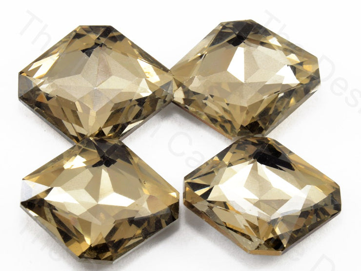 Golden / LCT Square Shaped Glass stone