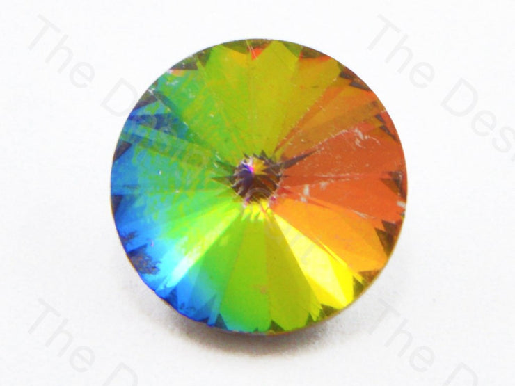 Rainbow / Multicolour Circle Shaped- With Non Flat base (11324270675)