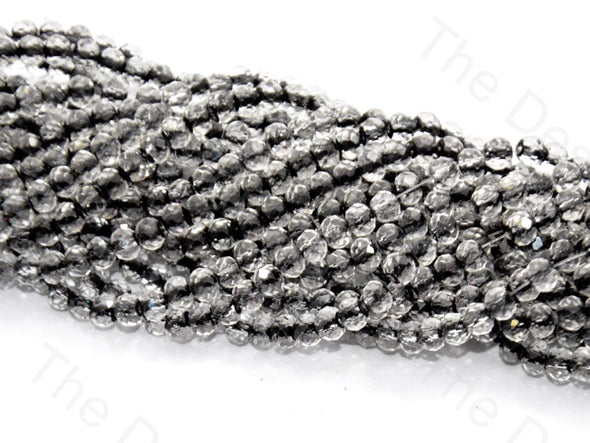 Black Inside Colour Tyre / Rondelle Shaped Crystal Bead