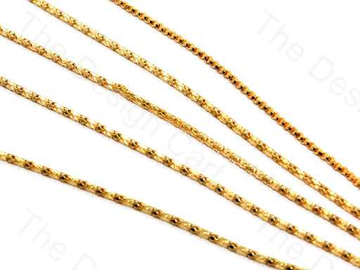 Cylindrical Golden Hooks Metal Chain