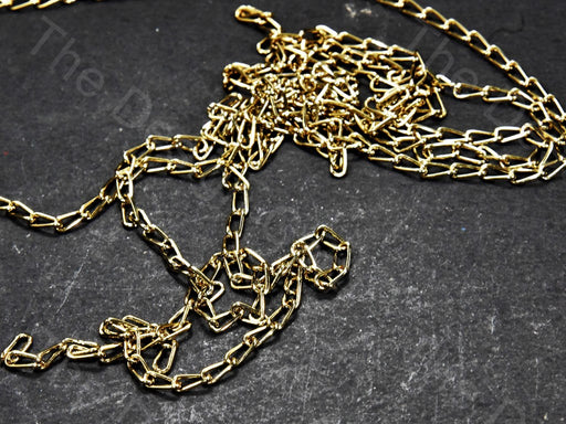 Long Hook Design Golden Metal Chain