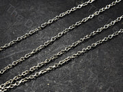 Circle Design Silver Gray Metal Chain | The Design Cart