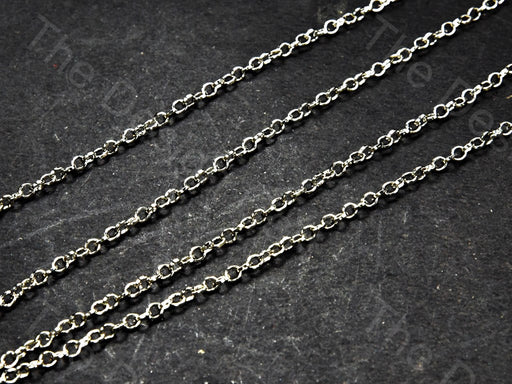 Circle Design Silver Gray Metal Chain