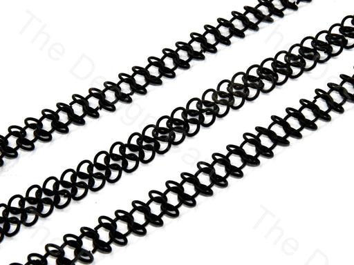 Double Circle Design Black Metal Chain