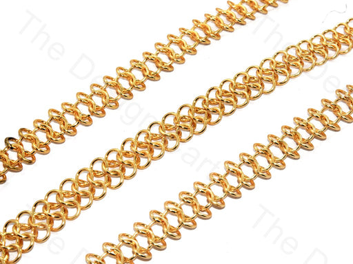Double Circle Design Golden Metal Chain