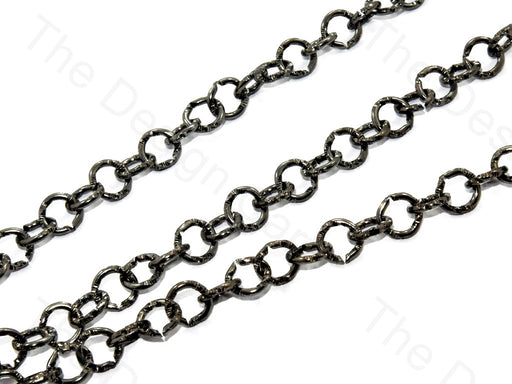 Round Cut Design Black Metal Chain