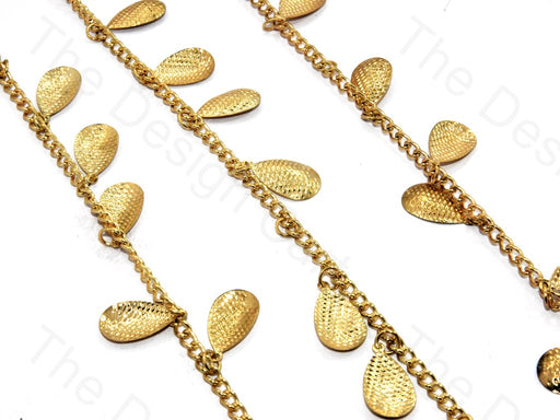 Pear Fruit Design Golden Metal Chain