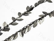 Hanging Leaf Design Silver Metal Chain | The Design Cart