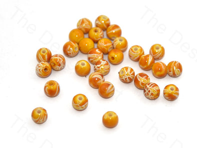 Yellow White Spherical Plastic Beads