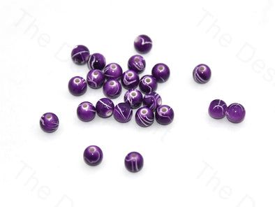 Violet White Spherical Plastic Beads