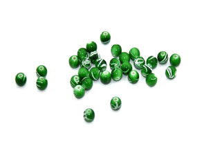 Green White Spherical Plastic Beads