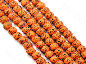 Orange Plastic Printed Beads
