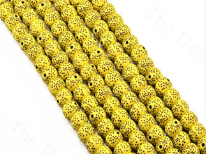 Yellow Plastic Printed Beads