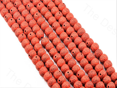 Red Plastic Printed Beads