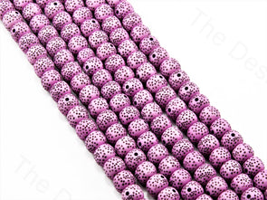 Purple Plastic Printed Beads