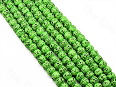 Green Plastic Printed Beads