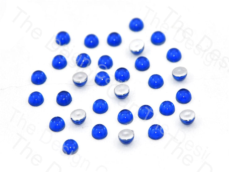 Blue Small Transparent Plastic Stick On Stones (419159179298)