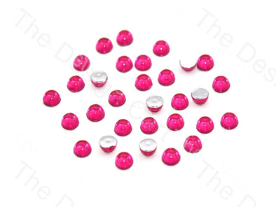 Magenta Small Transparent Plastic Stick On Stones