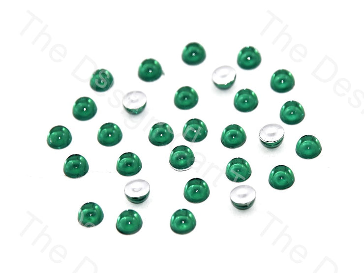 Dark Green Medium Transparent Plastic Stick On Stones (419158917154)
