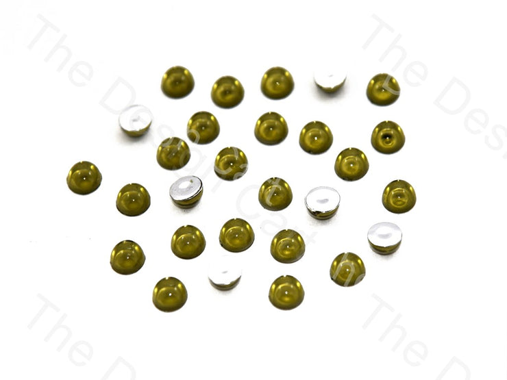 Olive Green / Peridot Medium Transparent Plastic Stick On Stones (419158884386)