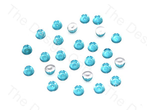 Sea Blue Medium Transparent Plastic Stick On Stones